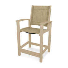 Sand & Burlap Coastal Counter Chair