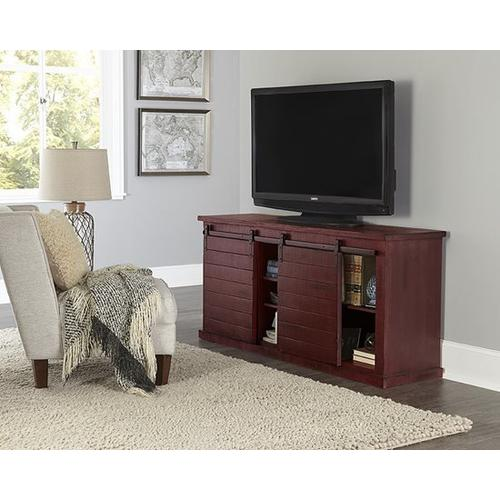 64 Inch Console - Red - Distressed Gray, Black, Navy, Pine, Red, \u0026 White Finish
