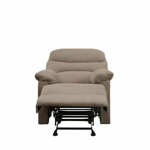 ACME Arcadia Recliner - 00627 - Light Brown Microfiber