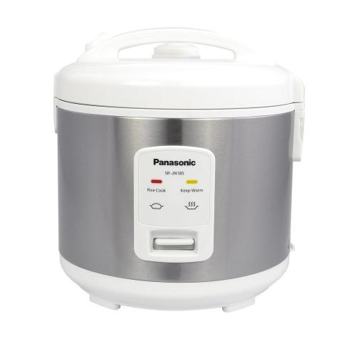 10 Cup (uncooked) Automatic Rice Cooker - Stainless Steel / White - SR-JN185W