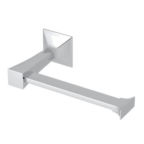 Polished Chrome Vincent Wall Mount Single Toilet Paper Holder