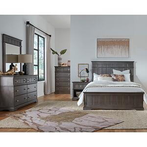 Gallery - Dresser \u0026 Mirror - Steel Gray Finish