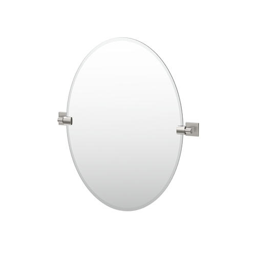 Mode Oval Mirror in Satin Nickel