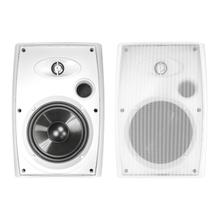 """See Details - 6.5"""" Two-Way Outdoor Speakers (White)"""