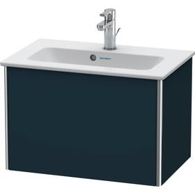 Vanity Unit Wall-mounted Compact, Night Blue Satin Matte (lacquer)
