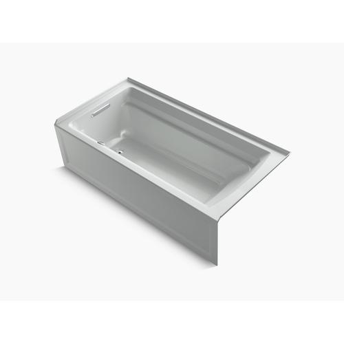 """Ice Grey 72"""" X 36"""" Alcove Bath With Integral Apron and Left-hand Drain"""