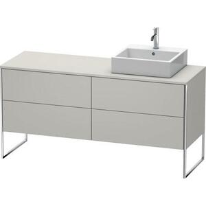 Vanity Unit For Console Floorstanding, Concrete Gray Matte (decor)