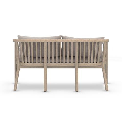 Stone Grey Cover Tate Outdoor Bench, Washed Brown
