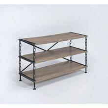 ACME Jodie TV Stand - 91224 - Rustic Oak & Antique Black