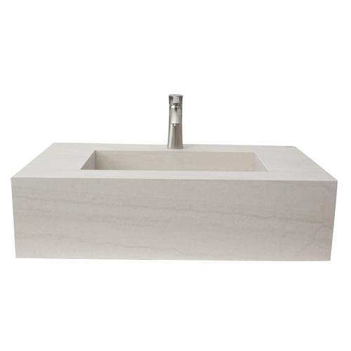 "Precious 33"" Wall-Hung Sink with Invisible Drain - Single-Hole / Macaubas"