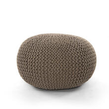 See Details - Clay Cover Jute Knit Pouf