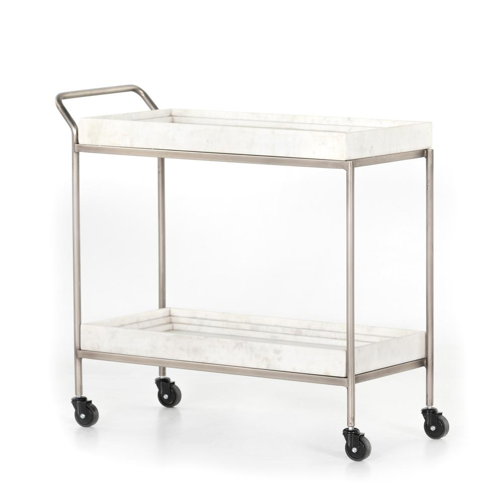 See Details - Corso Bar Cart-white Marble