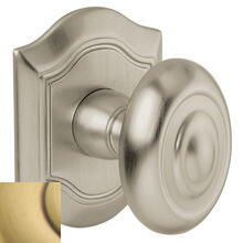 View Product - Satin Brass and Brown 5077 Bethpage Knob