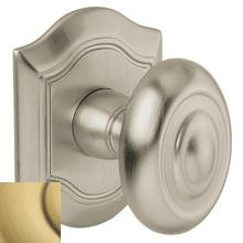 Satin Brass and Brown 5077 Bethpage Knob