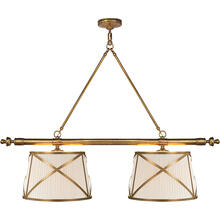 View Product - E. F. Chapman Grosvenor 4 Light 51 inch Antique-Burnished Brass Linear Pendant Ceiling Light