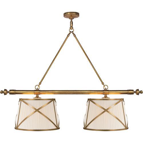 E. F. Chapman Grosvenor 4 Light 51 inch Antique-Burnished Brass Linear Pendant Ceiling Light