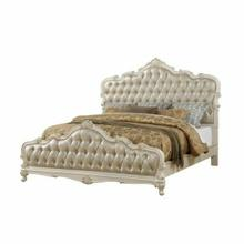 ACME Chantelle Eastern King Bed - 23537EK - Rose Gold PU & Pearl White