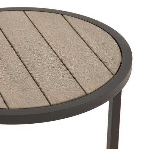 Washed Brown Finish Alda Outdoor End Table