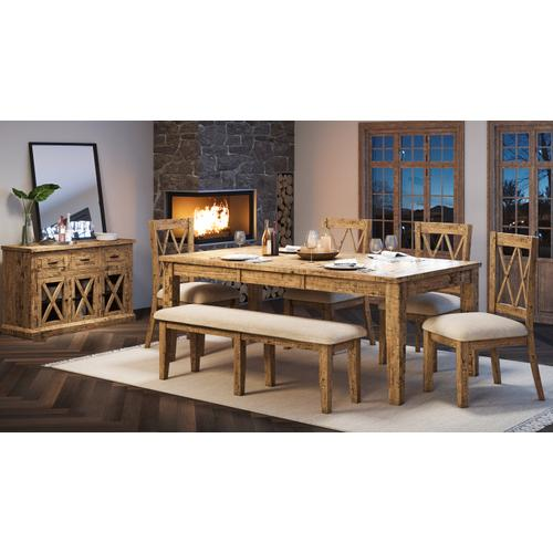 Telluride Ext Table & 6 Chairs Natural Pine