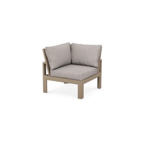 Modular Corner Chair in Vintage Sahara / Weathered Tweed