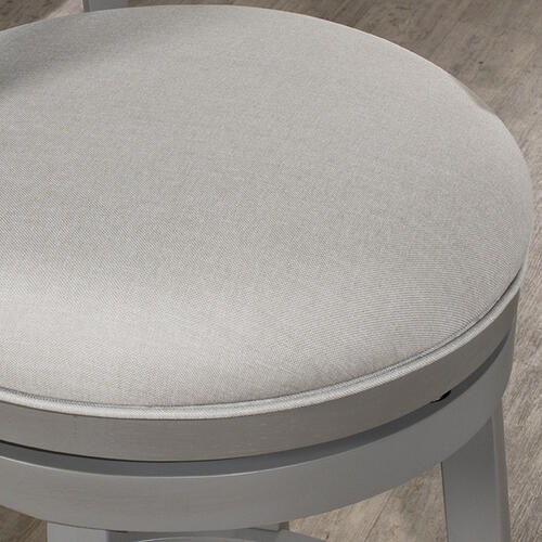 Clarion Swivel Bar Stool - Distressed Gray