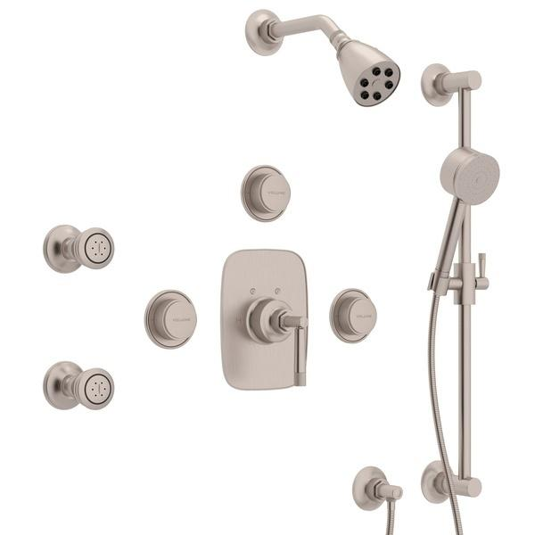 Satin Nickel GRACELINE THERMOSTATIC SHOWER PACKAGE with Metal Lever Graceline Series Only