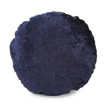 "18"" Round Pillow Amaron Midnight Crushed Velvet"