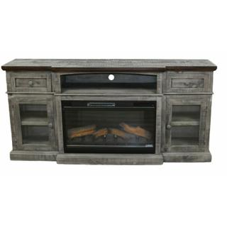"""See Details - 75"""" Gray/brown Estate Fp/buffet"""