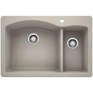 Diamond 1-1/2 Bowl - Concrete Gray