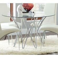 Cabianca Contemporary Chrome Dining Base