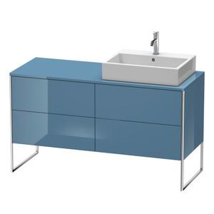 Vanity Unit For Console Floorstanding, Stone Blue High Gloss (lacquer)