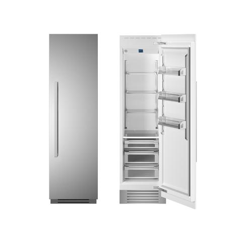 "24"" Built-in Refrigerator column - Stainless - Right hinge"