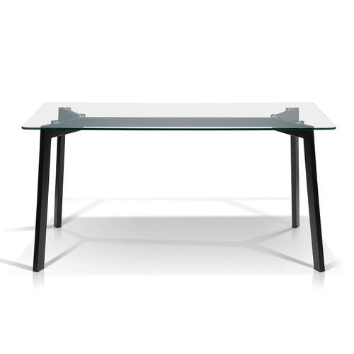 Bates Rectangular Glass Top Dining Table
