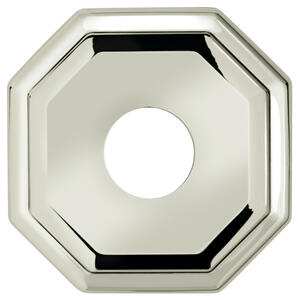 "2 5/8"" dia. Thru-Bolted Traditional Octagonal Rose in (2-5/8"" dia. Thru-Bolted Traditional Octagonal Rose - Solid Brass) Product Image"