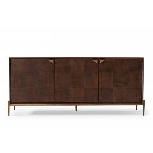 VIG Furniture - Modrest Shane - Modern Acacia & Brass Buffet