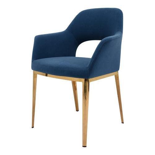 Carmel Dining Chair Blue Velvet