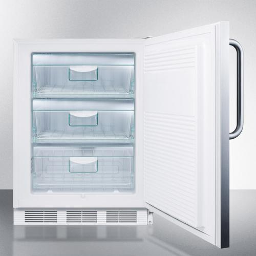 Commercial Built-in Medical All-freezer Capable of -25 C Operation In Complete Stainless Steel With Front Lock
