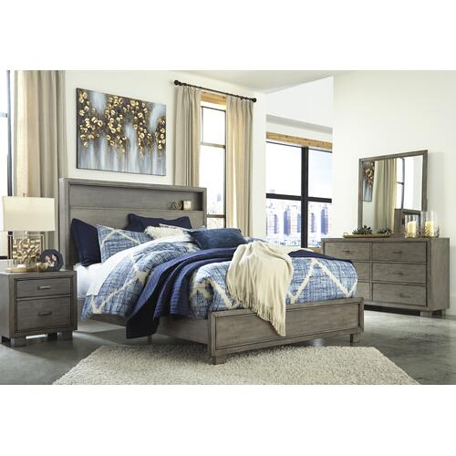 Arnett Queen Book case Bedframe