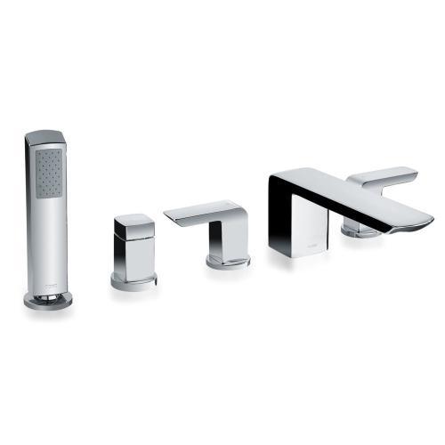 Soirée® Deck-Mount Bath Faucet with Handshower and Diverter - Polished Chrome Finish