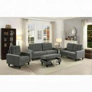 ACME Nate Ottoman w/Storage - 50243 - Gray Fabric Product Image