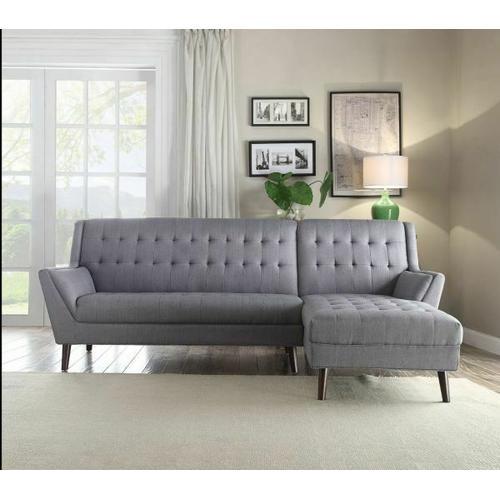 ACME Watonga Sectional Sofa - 53850 - Light Gray Linen