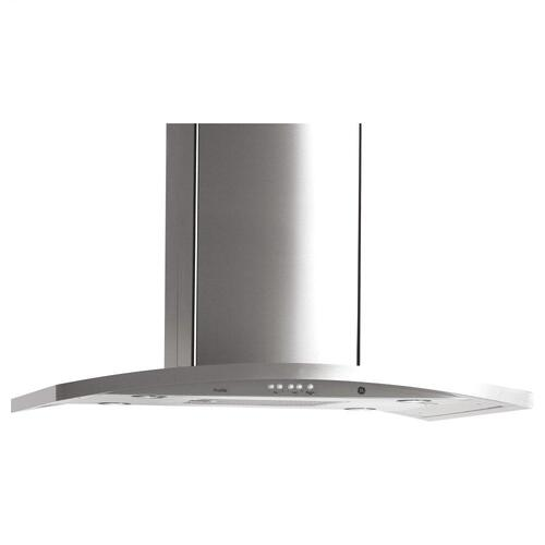 "GE Profile™ 36"" Island-Mount Chimney Hood"