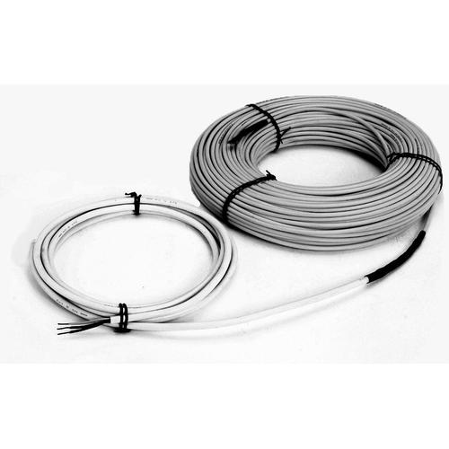 Snow Melting Cable, 500'L, 16.4' cold lead, 12 W/ft, twin-conductor heating cable, 25 Amps, 240V, 6000W. Covers 122-200 Sq Ft of heated area