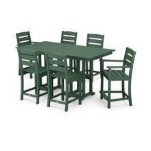 View Product - Lakeside 7-Piece Counter Set in Green