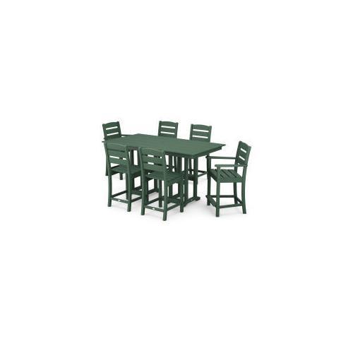 Polywood Furnishings - Lakeside 7-Piece Counter Set in Green