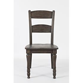 Madison County Ladderback Dining Chair Barnwood