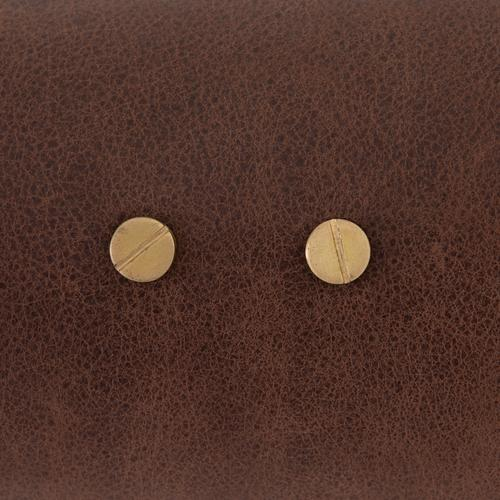 Astrid Double Pendant-d Brown Leather
