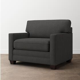 Charcoal Alexander Track Arm Chair and a Half