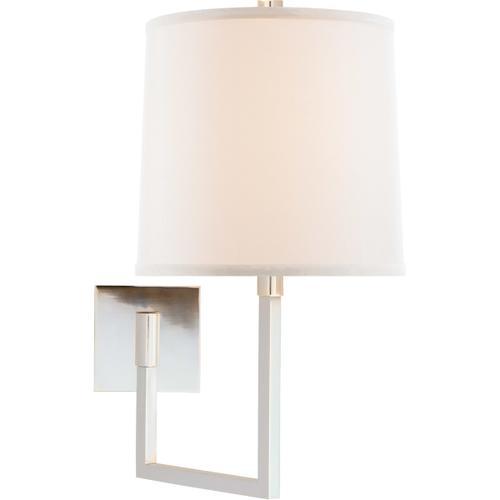 Barbara Barry Aspect 14 inch 100 watt Soft Silver Swing-Arm Wall Light