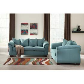 Darcy Sofa & Loveseat Sky